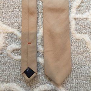 NWT JCrew Khaki Italian Cotton Chino Tie